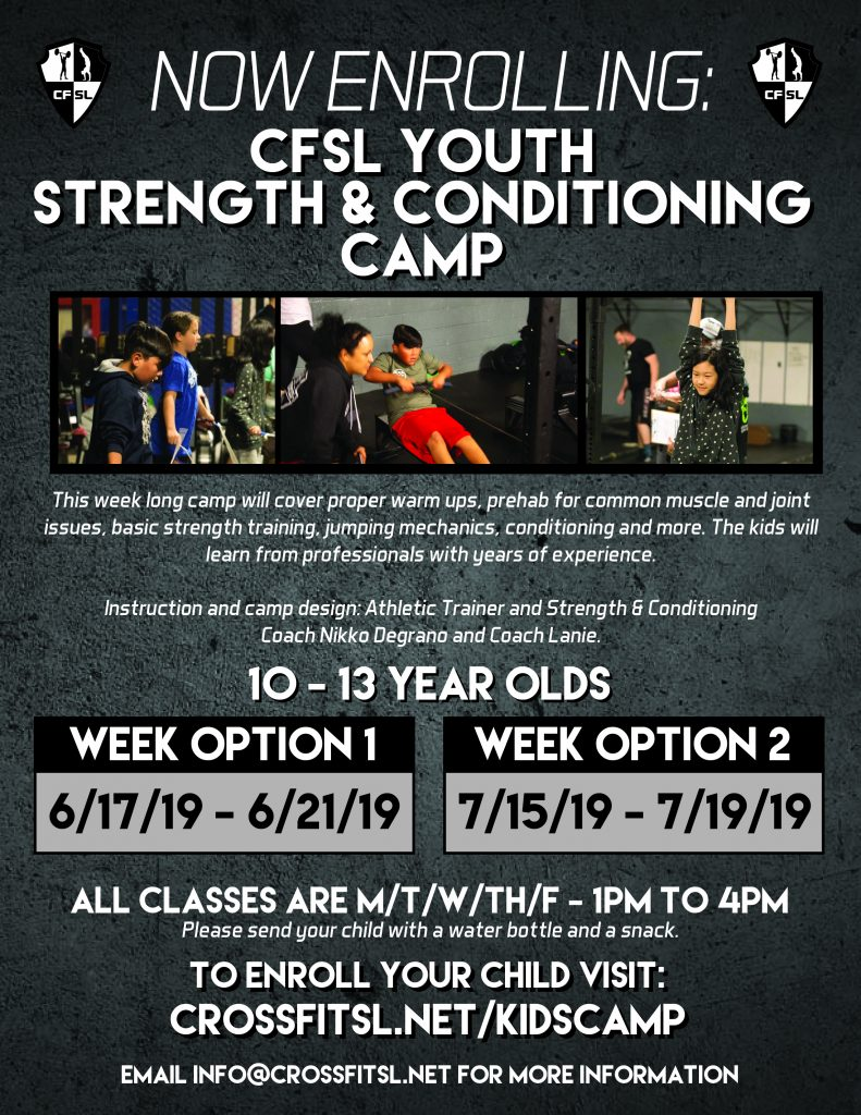 Kids/Teens Strength & Conditioning Camp – CrossFit San Leandro